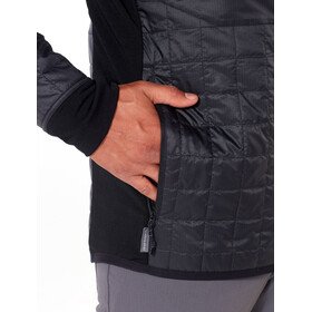 Icebreaker Helix Giacca a maniche lunghe con zip Uomo, black/jet heather